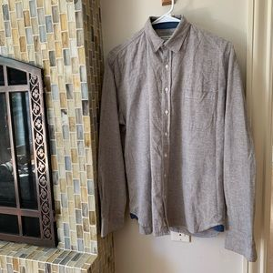 grey long sleeve button up size m